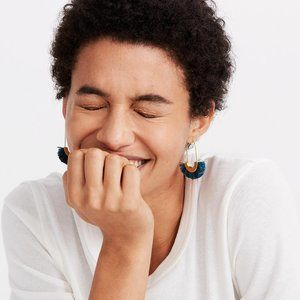Madewell Jewelry - [NWT] Madewell Arc Fringe Earrings in Turquoise